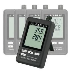 PCE-HT110 2 csatornás adatgyűjtő a hőmérséklet és a relatív nedvesség mérésére, RS-232 adapterrel és kijelzővel (64 k tárolás)