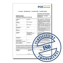 ISO kalibrációs tanúsítvány a pH-mérőhöz (3-pont kalibrálás)