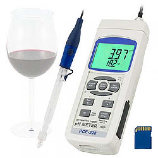 pH-elektróda PCE-PH-WINE, speciálisan pl. borokhoz
