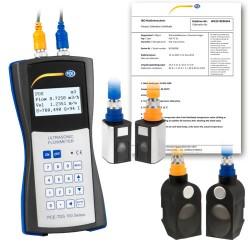 Áramlásmérő készlet PCE-TDS 100, beleértve a 20 ... 100 mm és 50 ... 700 mm kalibrált érzékelőket PCE-TDS 100HSH