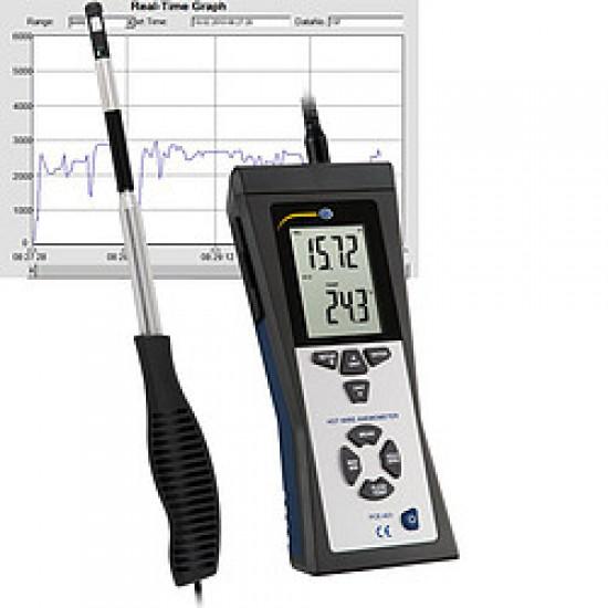 PCE-423 Kompakt hődrótos légsebességmérő