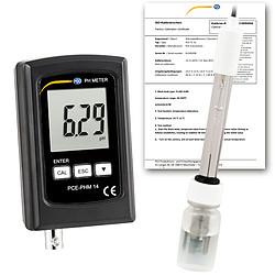 pH-mérő PCE-PHM 14, PE-03 pH-elektródával és ISO kalibrációs tanúsítvánnyal