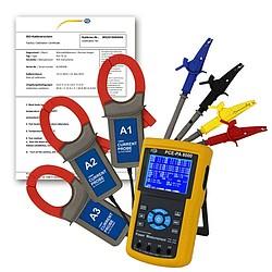 3-fázisú PCE-PA 8000 teljesítménymérő, ISO-kalibrációs tanúsítvánnyal