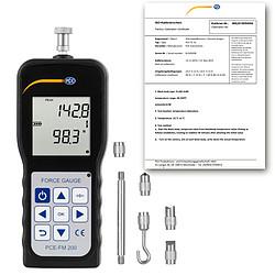 PCE-FM 200 erőmérő ISO-kalibrációs bizonyítvánnyal