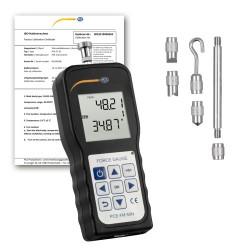 PCE-FM 50N erőmérő ISO-kalibrációs bizonyítvánnyal
