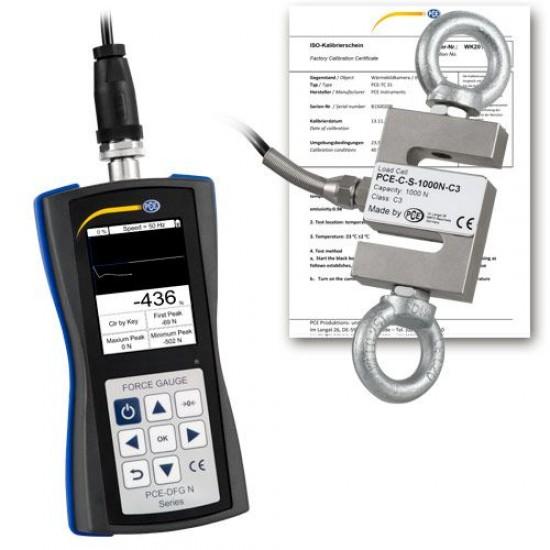 PCE-DFG N 200 erőmérő külső (extern) mérőcellával és USB-csatlakozóval  200N