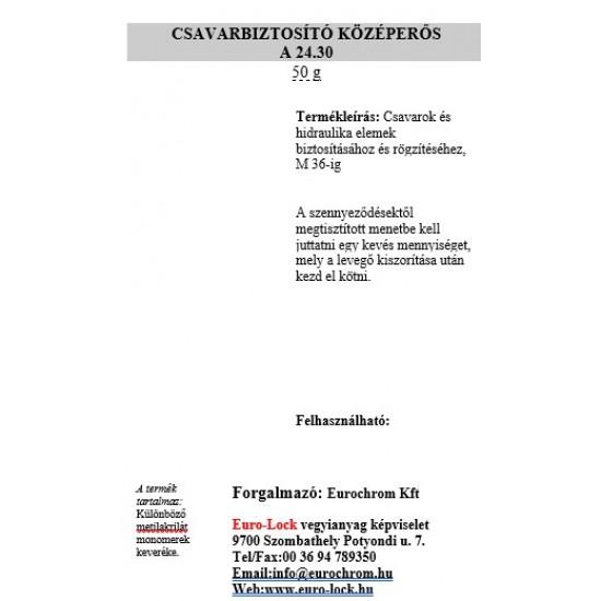 A 24.30-10 Csavarbiztosító Középerős 10 Gr