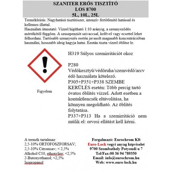 LOS 8700-10 Szaniter Erőstisztító 10L