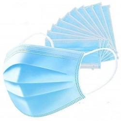 Szájmaszk gumipánttal (3 rétegű) kék