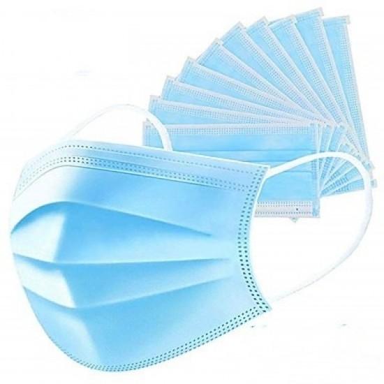 Magyar gyártású szájmaszk gumipánttal (3 rétegű) kék