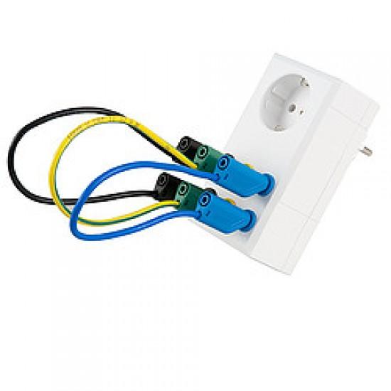PCE-PA-ADP-SCHUKO Mérőadapter a teljesítménymérők és az árammérők számára