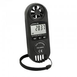 3 az e1ben mérőműszer PCE-AM 85, légnyomásmérő, szélsebességmérő és magasságmérő