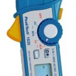 PKT-1635 :3 in1 digitális lakatfogó 3 2/3-számjegyű 2/80 A AC/DC feszültségérzékelővel, zseblámpával