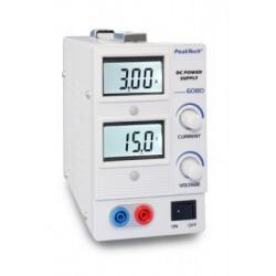PKT-6080 DC tápegység 0-15 V ~ / 0-3 A DC digitális