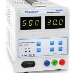PKT-6070 Digitális laboratórium tápegység 0-30 V/ 0-5 A DC