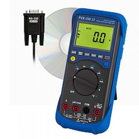 PCE-DM 22 Adatgyűjtős multiméter