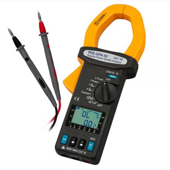 PCE-GPA 62 Teljesítmény és energiamérő 3 fázisig