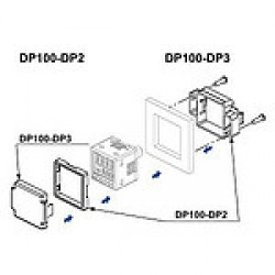 DP100-DP3 szenzortakaró DP100-DP2-vel együtt