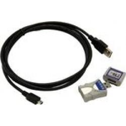 LogMemorizer mérési érték feljegyző és kiértékelő szoftver USB-sticken, csatlakozókábellel PC-hez