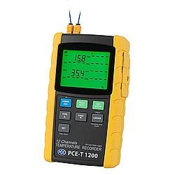 PCE-T 1200 12 csatornás hőmérséklet adatgyűjtő
