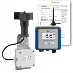Vezeték nélküli szélsebesség riasztó vezérlő PCE-WSAC 50W (tápfeszültség: 24 V DC), ISO-kalibrálási